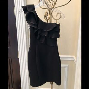 Lipsy Ruffled One Shoulder Party Dress